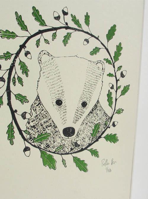 badger and oak print