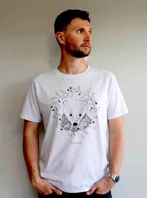 badger mens T-shirt against a white background