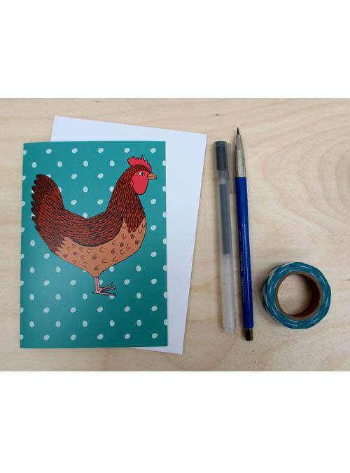 rhode island red chicken card