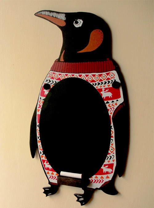 penguin chalkboard
