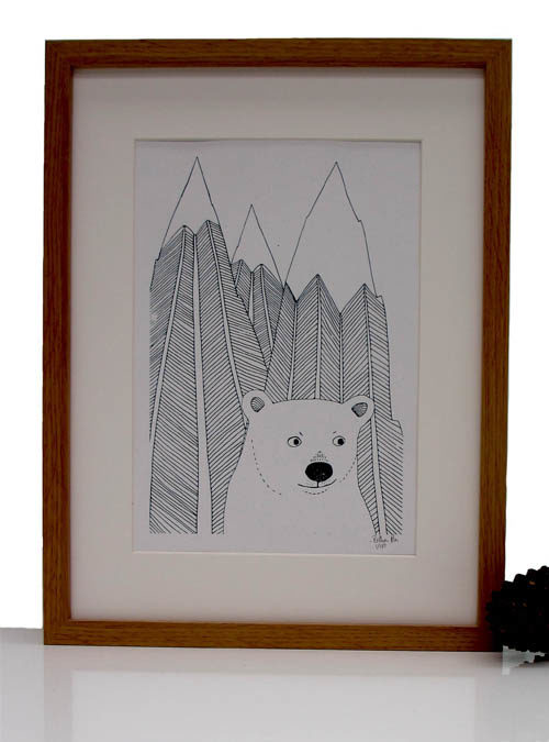 polar bear screen print