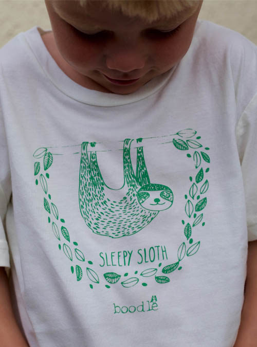 sleepy sloth kids T-shirt