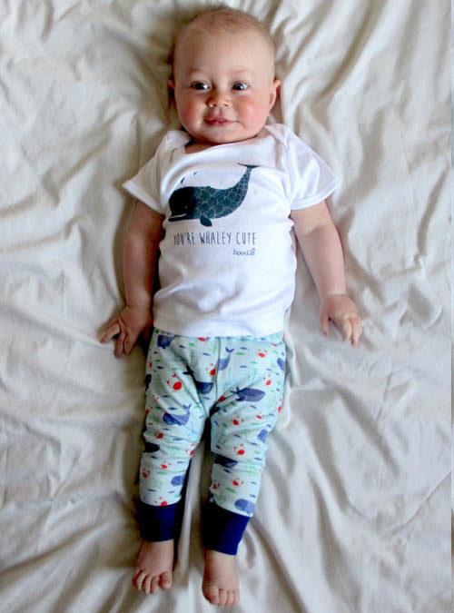 whale baby leggings