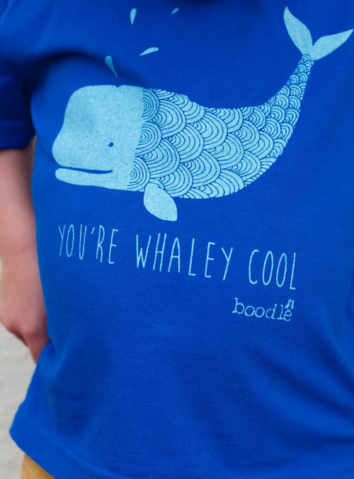 close up of whaley cool kids tee